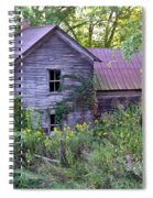 Overgrown Abandoned 1800 Farm House Spiral Notebook