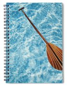 Overhead View Of Paddle Spiral Notebook