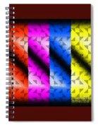 Overlayed Mask Spiral Notebook