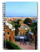 Overlooking Barcelona From Park Guell Spiral Notebook