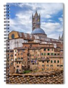 Overlooking Siena And The Duomo Spiral Notebook