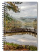 Overlooking The Beauty Of The Lake Spiral Notebook