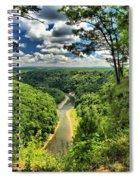 Overlooking The Genesee Spiral Notebook