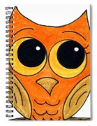 Owl And Bee Spiral Notebook