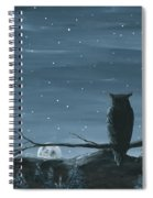 Owl And The Moon Spiral Notebook