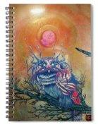 God King Owl Spiral Notebook