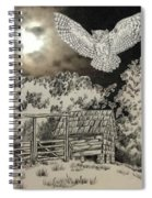 Owl In The Moonlight On Brush Mountain Spiral Notebook