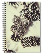 Owl Pendants. Charms Of Wisdom Spiral Notebook