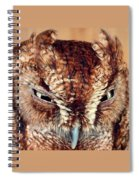 Owl Who? -brown Owl Spiral Notebook