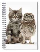 Owling And Yowling Spiral Notebook