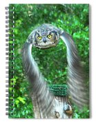 Owll In Flight Spiral Notebook