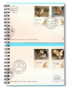 owls First day cover Spiral Notebook
