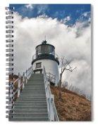 Owl's Head Lighthouse 4764 Spiral Notebook