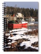Owls Head Snow Spiral Notebook