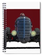 Owner Designed And Built Race Car Spiral Notebook