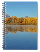 Oxbow Bend First Light  Spiral Notebook