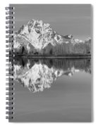 Oxbow Bend Panorama Black And White Spiral Notebook
