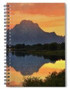 Oxbow Sunset 13 Spiral Notebook