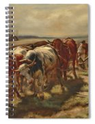 Oxen Plowing Spiral Notebook