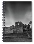 Oystermouth Casle At Mumbles Spiral Notebook