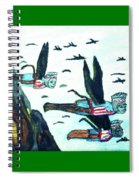 Oz Flying Monkeys  Spiral Notebook