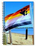 P Town Bear Flag Spiral Notebook