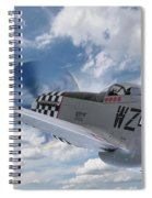 P51 In The Clouds Spiral Notebook