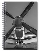 P51 Mustang Vintage Aircraft Spiral Notebook