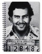 Pablo Escobar Mug Shot 1991 Vertical Spiral Notebook