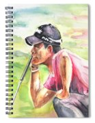 Pablo Larrazabal Winning The Bmw Open In Germany In 2011 Spiral Notebook