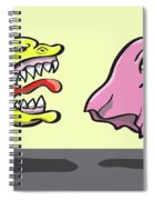 Pac Man And Ghost Illustration Spiral Notebook