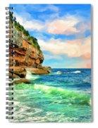 Pacific Coast At Big Sur Spiral Notebook
