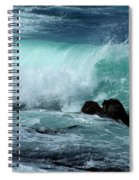 Pacific Coast Crashing Wave Photograph Spiral Notebook