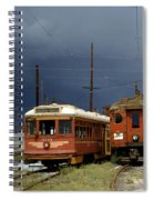 Pacific Electric Trolley, 5115, 316, Long Beach, California Spiral Notebook