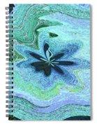 Pacific Ocean After Warping Spiral Notebook