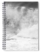 Pacific Ocean Breakers Black And White Spiral Notebook