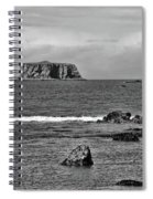 Pacific Ocean Coastal View Black And White Spiral Notebook