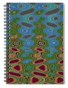 Pacific Ocean From Oregon Abstract Spiral Notebook