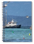 Pacific Ocean Herring Spiral Notebook