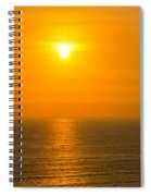Pacific Ocean Sunset Spiral Notebook