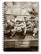Pacific Siteseeing Co Bus No. 15 With A Load Of Tourists On Point 1919 Spiral Notebook