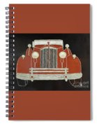 Packard 1937 Red Spiral Notebook