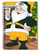 Packers Santa Claus Spiral Notebook