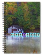 Paddle Boats On The Lake Spiral Notebook
