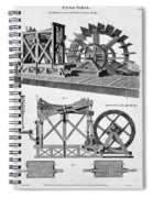 Paddle-driven Beam-engine Suction Pump Spiral Notebook