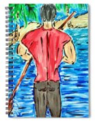 Paddle In Paradise Spiral Notebook