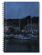Padstow Harbor At Night Spiral Notebook