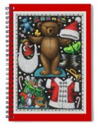 Page 1 Of 2 Teddy Bear Santa Claus Paper Doll Spiral Notebook