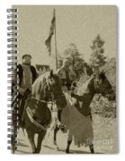 Pageantry In Sepia Spiral Notebook