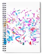 Paint Experiment 033 Spiral Notebook